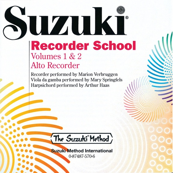 Suzuki Recorder School (Alto Recorder) CD, Volume 1 & 2