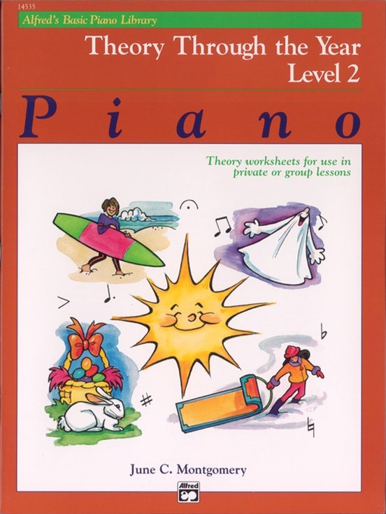 Alfred's Basic Piano Library: Theory Through the Year Book 2