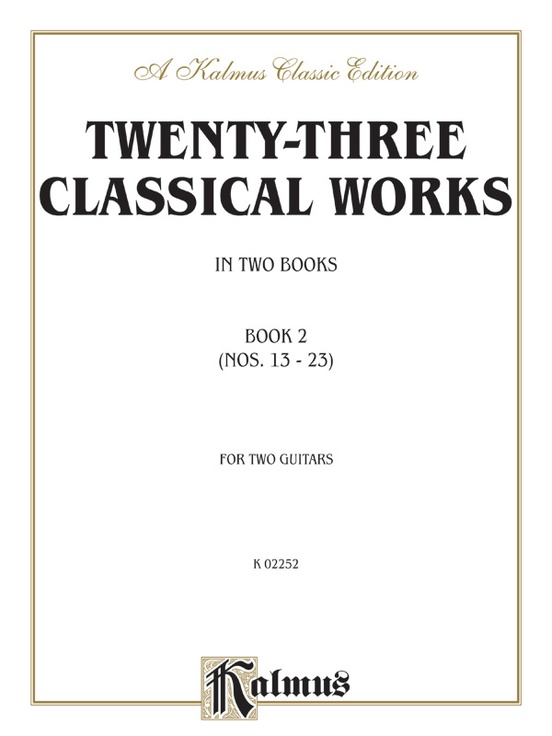 Twenty-Three Classical Works for Two Guitars, Book 2