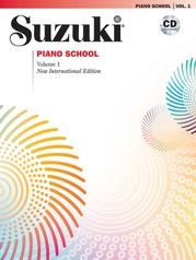 Suzuki Piano School New International Edition Piano Book and CD, Volume 1