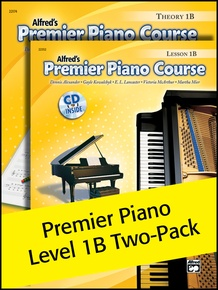 Premier Piano Course, Lesson & Theory 1B (Value Pack)