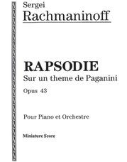 Rhapsodie, Opus 43