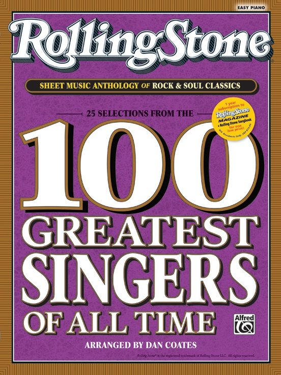 Rolling stone sheet music anthology of rock soul classics piano book rolling stone sheet music anthology of rock soul classics 25 selections from the 100 greatest singers of all time fandeluxe Gallery
