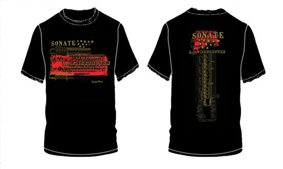 Beethoven Sonate Opus 27, No. 2 T-Shirt (Small)