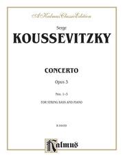 Concerto, Opus 3 Nos. 1-3