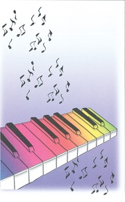 Schaum Recital Programs (Blank) #66: Rainbow Keyboard