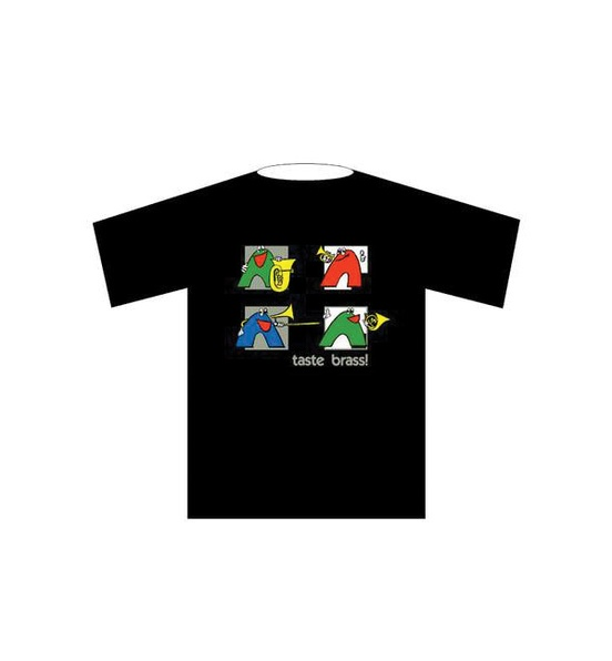 Taste Brass! T-Shirt: Black (Extra Large)