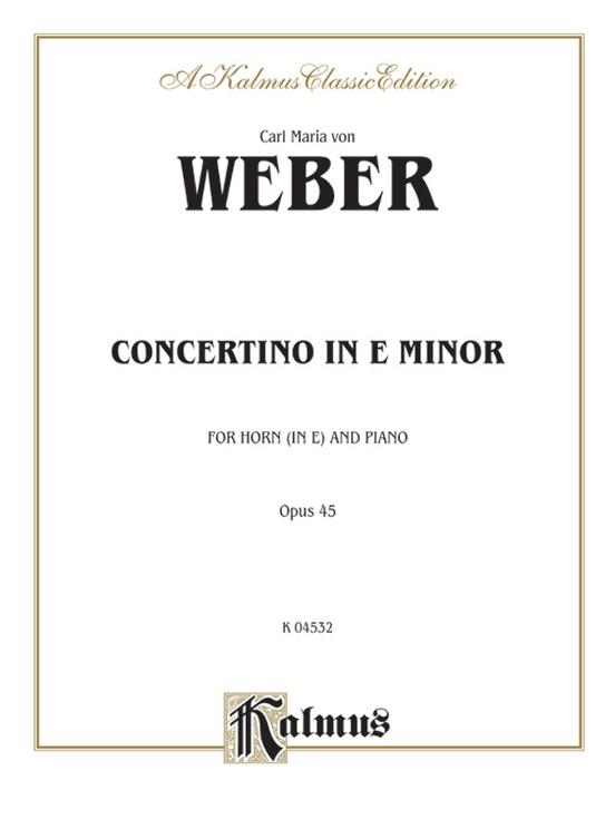 Concertino in E Minor, Opus 45 (Orch.)