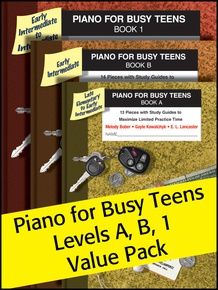 Piano for Busy Teens, A, B & 1 (Value Pack)