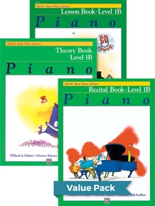 Alfred's Basic Piano Library Lesson, Theory, Recital 1B (Value Pack)