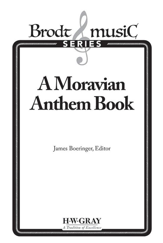 A Moravian Anthem Book