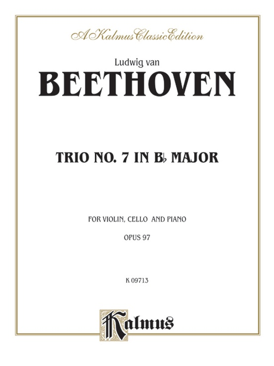 Piano Trio No. 7, Opus 97 in B-flat Major