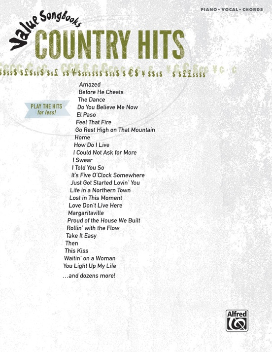 Value Songbooks: Country Hits