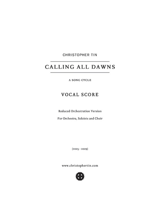 Calling All Dawns: SATB Choral Octavo: Christopher Tin