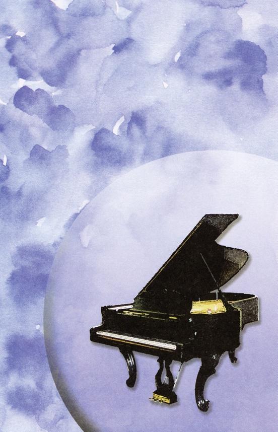 Schaum Recital Programs (Blank) #29: Piano with Watercolor