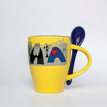 Taste Woodwinds! Coffee Mug (White/Yellow)