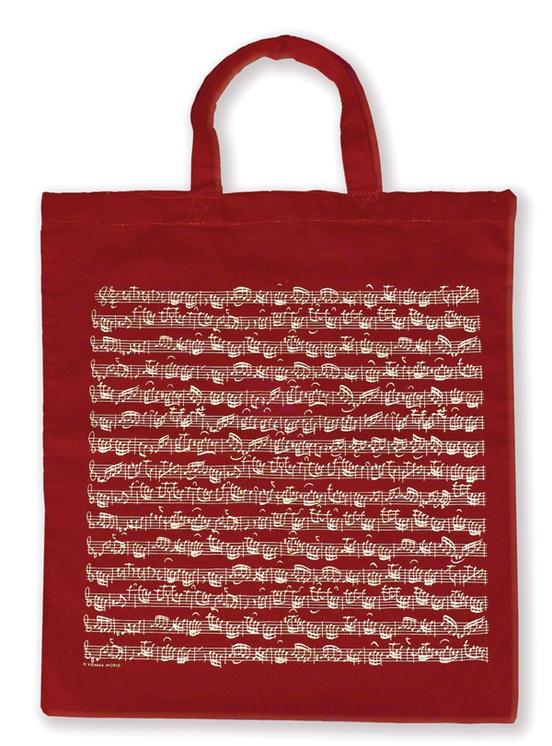 Tote Bag: Sheet Music (Bordeaux)