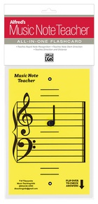 Alfred's Music Note Teacher: All-In-One Flashcard (Yellow)