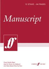 """Manuscript Paper: 12 Stave Full Size (8.5"""" x 12"""")"""