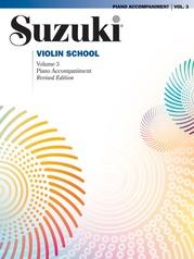 Suzuki Violin School Piano Acc., Volume 3 (Revised)
