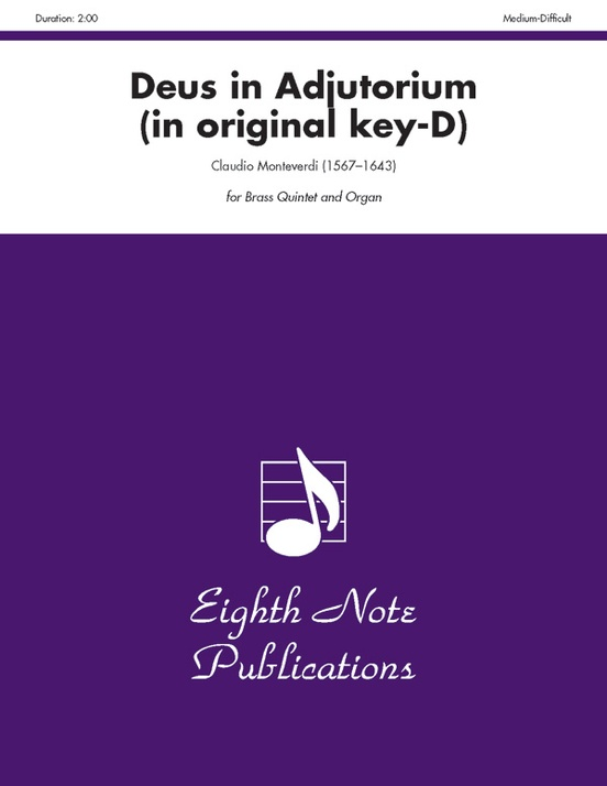 Deus in Adjutorium (in original key of D)