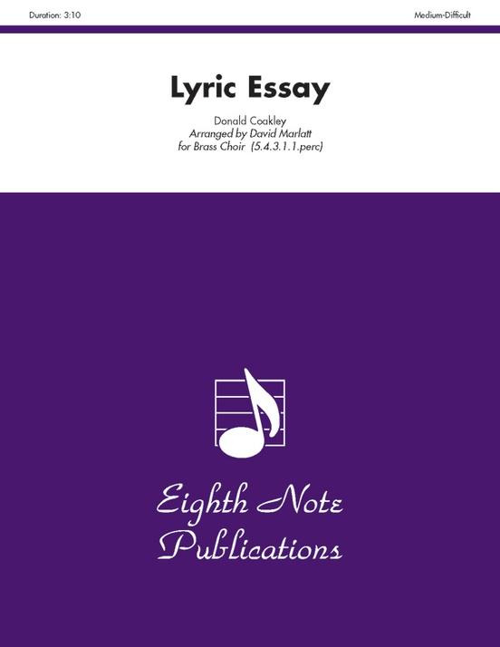 lyric essay donald coakley