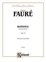 Romance, Opus 28 (Urtext)