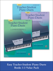 Easy Teacher-Student Piano Duets 1-3 (Value Pack)