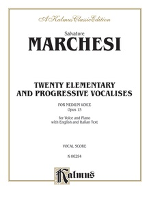 Twenty Elementary and Progressive Vocalises, Opus 15