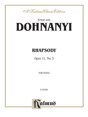 Rhapsody, Opus 11, No. 3