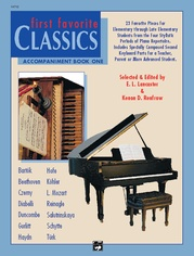 First Favorite Classics: Accompaniment, Book 1