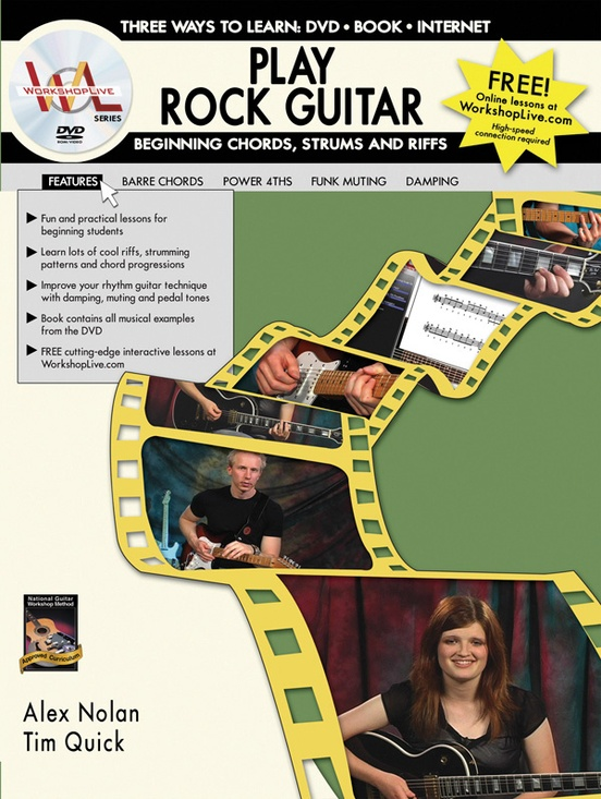 Play Rock Guitar: Beginning Chords, Strums, and Riffs