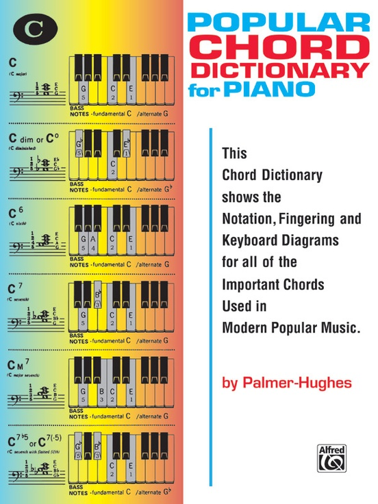 Popular Chord Dictionary For Piano Piano Book