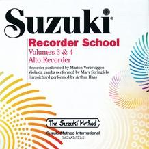 Suzuki Recorder School (Alto Recorder) CD, Volume 3 & 4