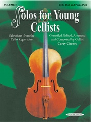 Solos for Young Cellists Cello Part and Piano Acc., Volume 5