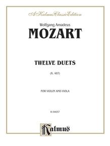 Twelve Duets, K. 487