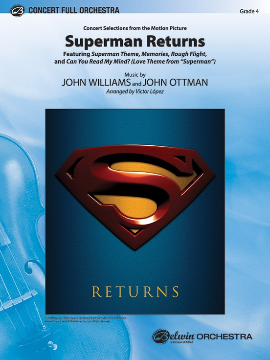 Superman returns concert selections from full orchestra conductor superman returns concert selections from fandeluxe Gallery