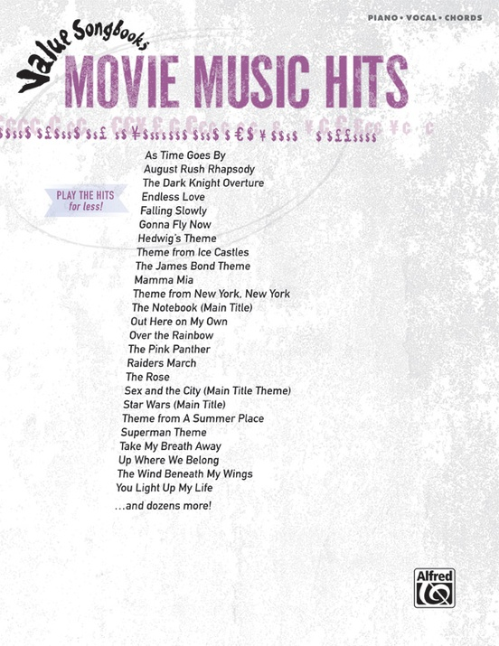 Value Songbooks: Movie Music Hits