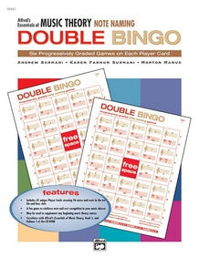 Alfred's Essentials of Music Theory: Double Bingo Game -- Note Naming