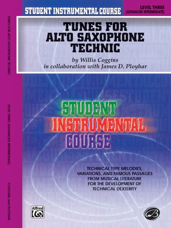 Student Instrumental Course: Tunes for Alto Saxophone Technic, Level III