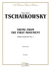 First Movement, Piano Concerto No. 1, Theme from the