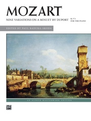 Mozart: Nine Variations on a Minuet by Duport, K. 573