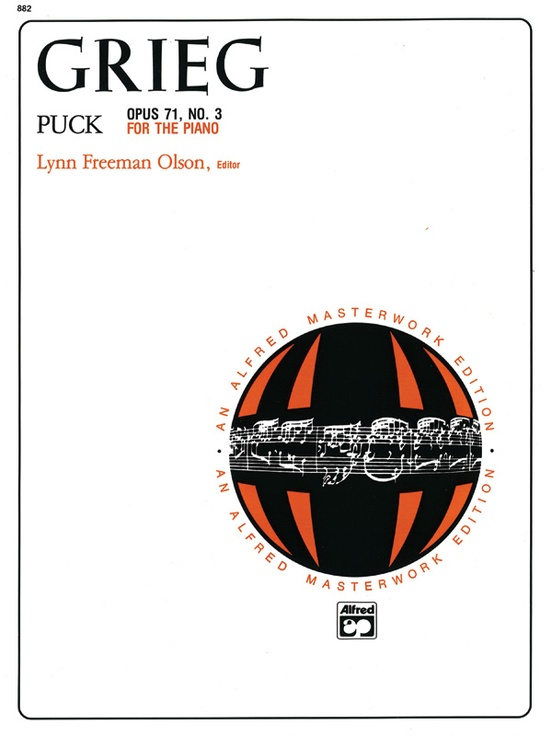 Puck Opus 71 No 3 Piano Sheet Edvard Grieg