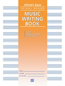"""12 Stave Music Writing Book (9"""" x 12"""")"""