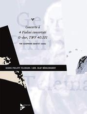 Concerto à 4 Violini concertati G-Dur TWV 40:201