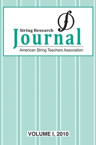 String Research Journal: Volume I, 2010