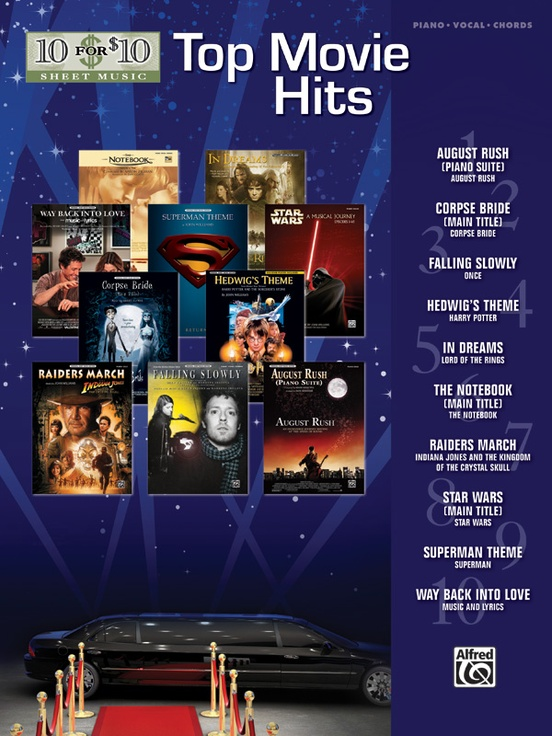 10 for 10 Sheet Music: Top Movie Hits