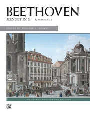 Beethoven, Menuet in G