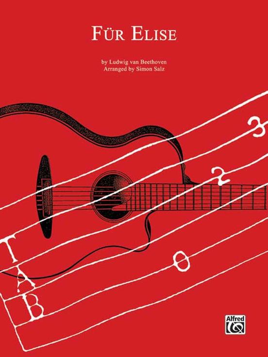 Fr Elise: Classical Guitar TAB Sheet: Ludwig van Beethoven