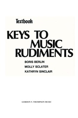 Keys to Music Rudiments: Textbook